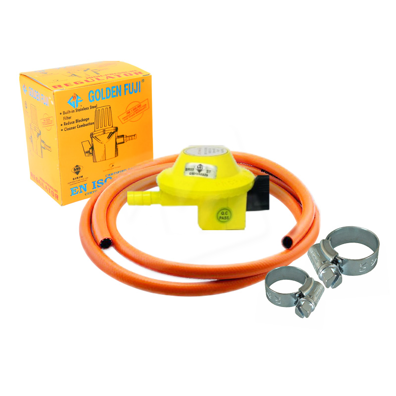 Package B: Golden Low Pressure Regulator + Hose (5ft) + Hose Clamp